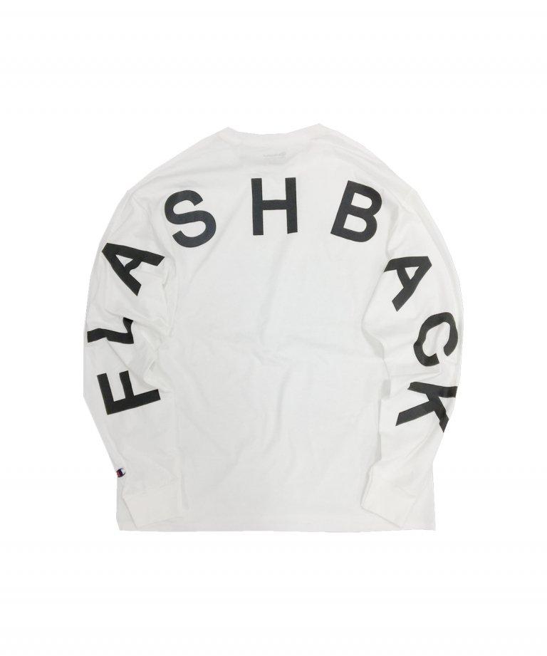 【FLASHBACK21SS最新作】Champion Arch Logo Long Sleeve Tee WHT