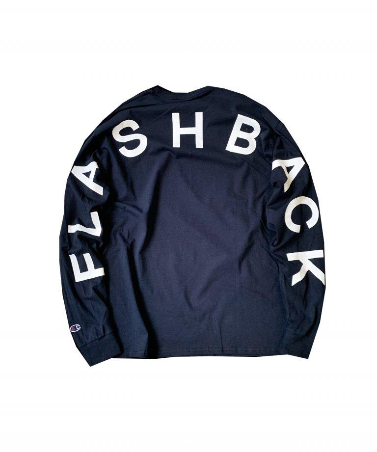 【FLASHBACK21SS最新作】Champion Arch Logo Long Sleeve Tee NAV