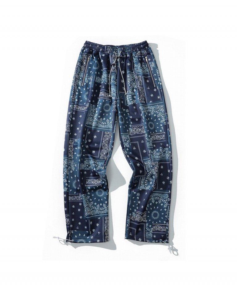 【FLASHBACK】HypeFit paisley LOOSE Fit Wide Pants NAV