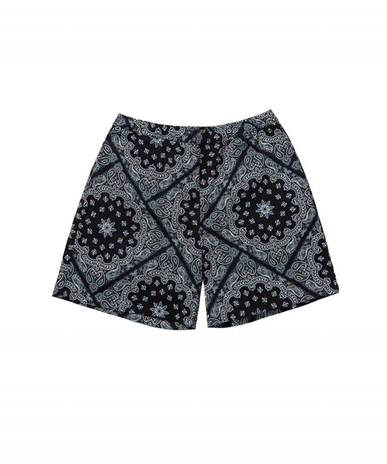 【FLASHBACK】 Paisley LOOSE Fit Shorts BLK