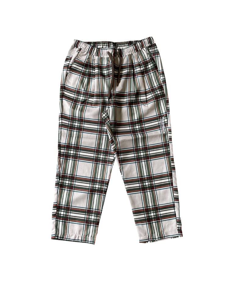 【FLASHBACK】 LOOSE Fit Check Wide Pants BEG
