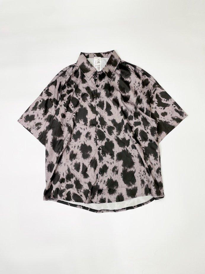 OUTRO-feer de seal- Half Sleeve OverSize Shirts BrownLeopard