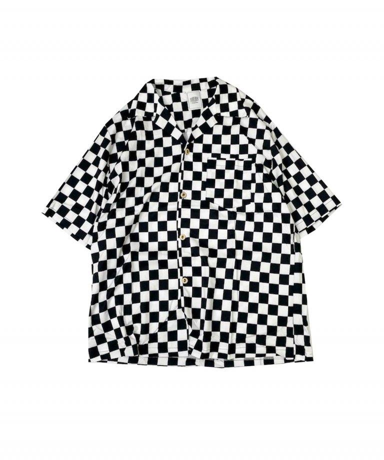 FLASHBACK FlagCheck OverSize Half Sleeve Shirts