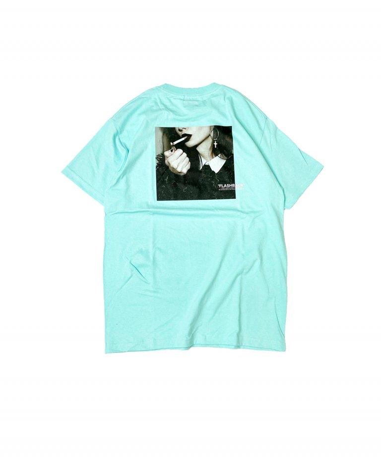【FLASHBACK】SmokingLady Photo OVERSIZE T-Shirts.MINT