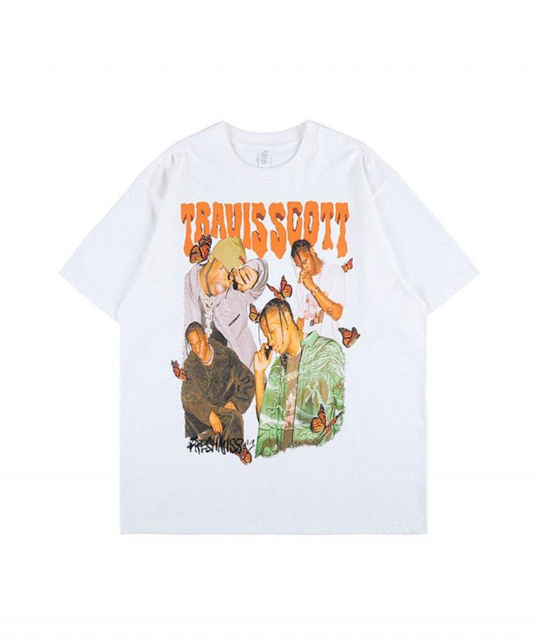 【決算セール!!30%OFF】【USA Select】 Travis Scott OVERSIZE Vintage T-Shirts.WHT
