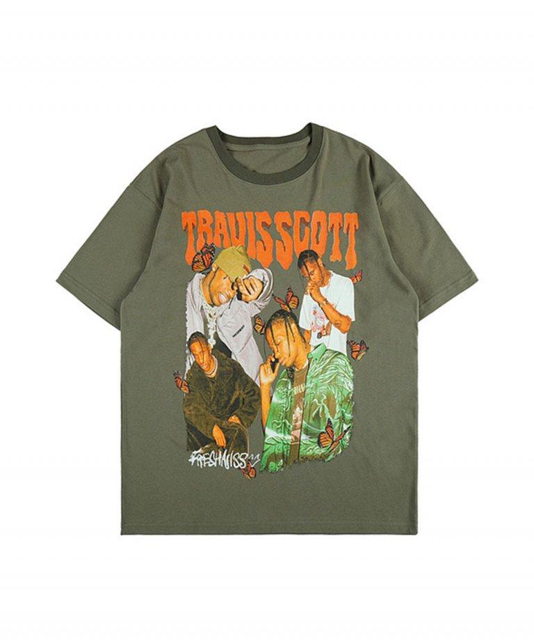 【決算セール!!30%OFF】【USA Select】 Travis Scott OVERSIZE Vintage T-Shirts.KHA