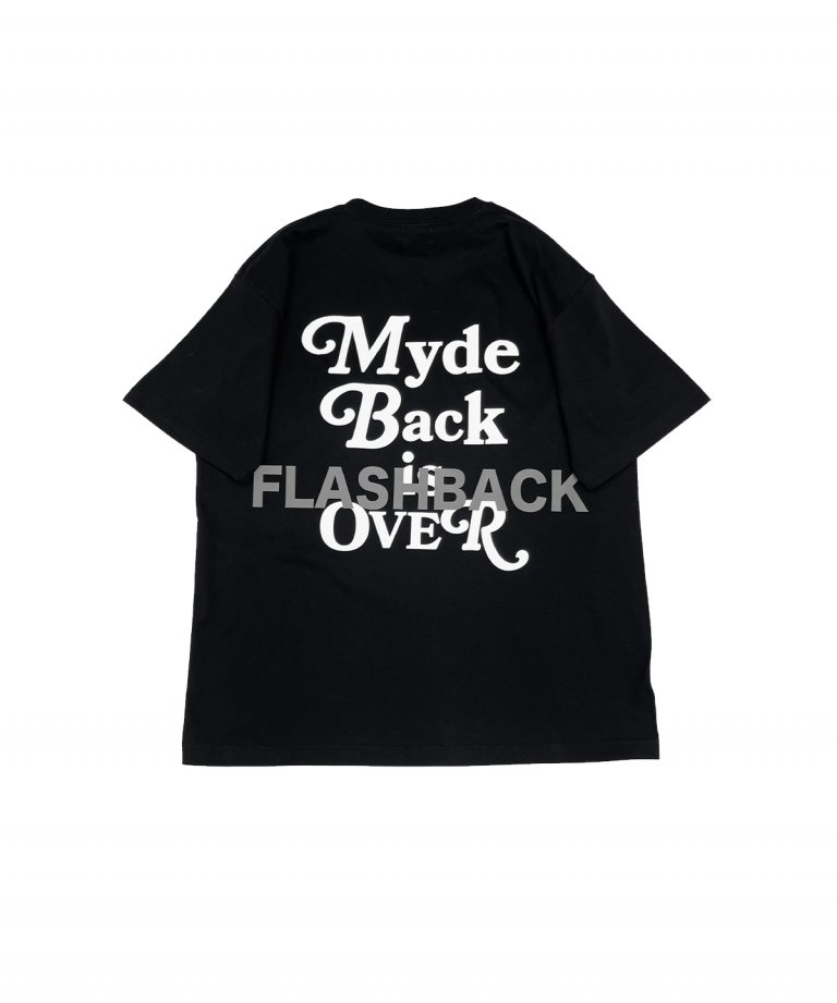 【FLASHBACK最新作】''Myde Back is OVER'' Reflector OVERSIZE  T-Shirts BLK