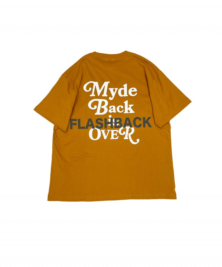 【FLASHBACK最新作】''Myde Back is OVER'' Reflector OVERSIZE  T-Shirts Redwood