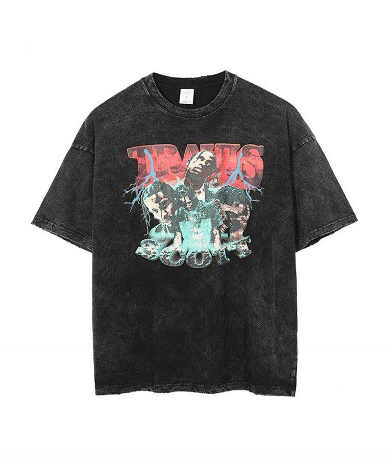 【USA Select】 Travis Scott 2 OVERSIZE Vintage T-Shirts.