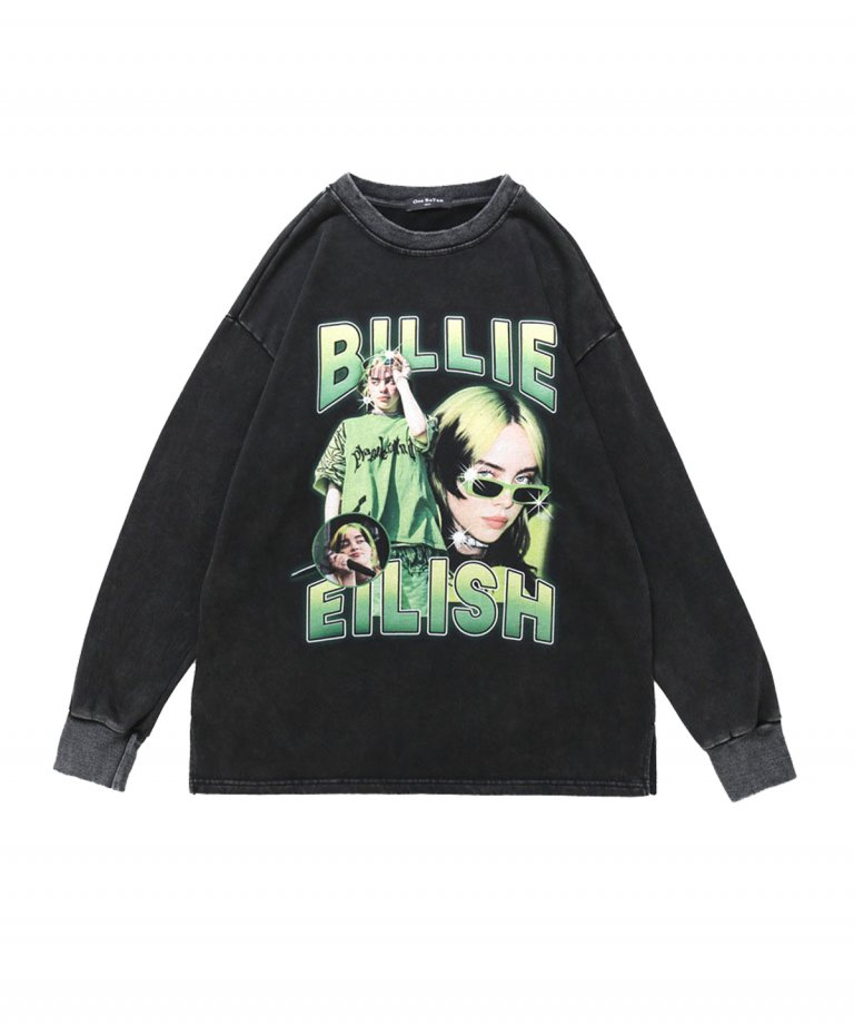 【USA Select】 Billie Eilish OVERSIZE Vintage Sweat.