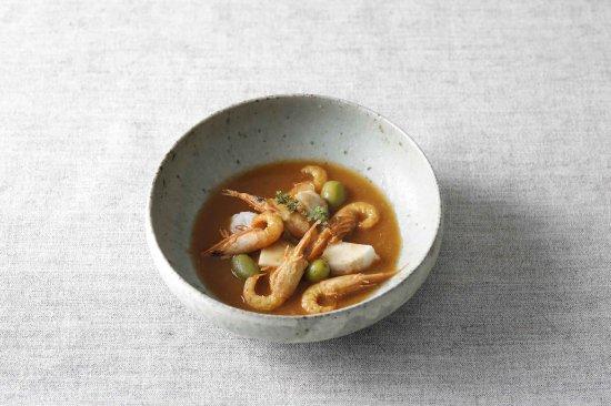 新漬けオリーブと里芋 小エビのスープ [売切れ]
