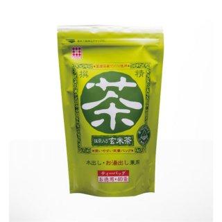 抹茶入り玄米茶  三角ティーバッグ4gx40pシリーズ/いさし園の商品画像