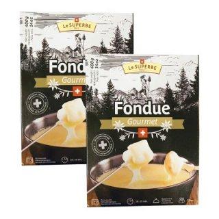 チーズフォンデュ レトルト 本格的 本場スイス産 400g×2個セット ちーず パーティ エメンタール グリュイエール配合 チーズ チ-ズ 絶品 家庭用 美味しい お取り寄せグルメ おうちごはん