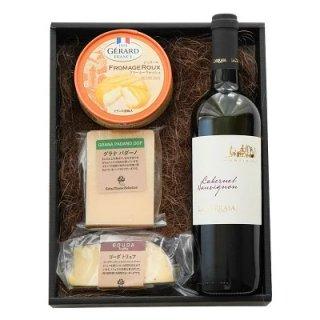 チーズとワインセット おつまみ プレゼント ギフト 内祝い 父の日 詰め合わせ 赤ワイン ワイン好き グラナパダーノ ゴーダトリュフ  トリュフ 誕生日 お酒 チーズ おつまみセット 贈り物 お祝い