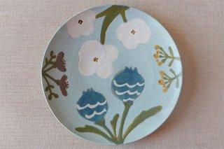 Hana7寸皿(ブルー)