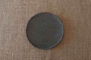 ブラックプレート皿(中)