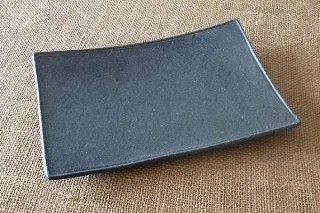 ブラック角皿