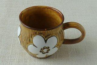 茶マグカップ c