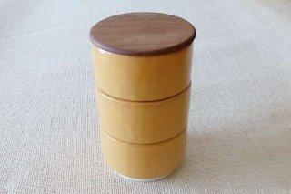 黄釉 重ね鉢(3段)