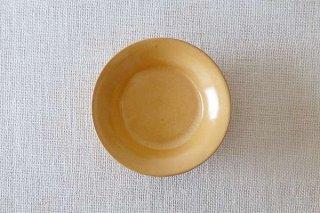 黄釉 4寸皿