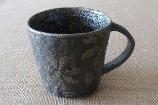 炭化マグカップ(花)