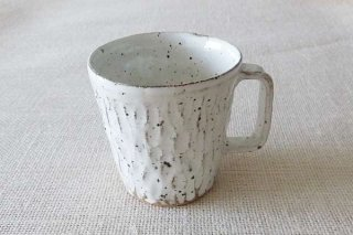 ホワイトマグカップ(縦長)