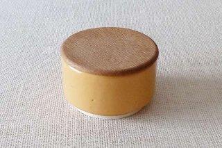 黄釉 蓋付き小鉢