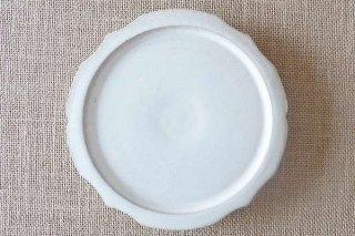 ホワイト 稜花5寸皿