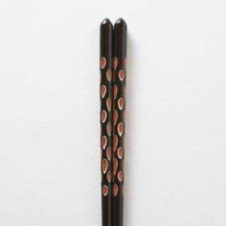 木葉 黒 / 重ね塗り削り