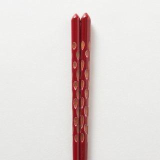 木葉 赤 / 重ね塗り削り
