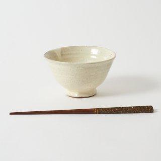 箸・飯碗セット 曙 栗鼠茶 / すり漆 研ぎ五角