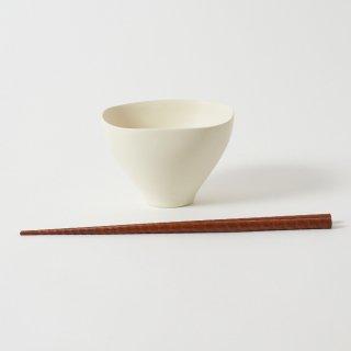 箸・飯碗セット 轟 天黒 / すり漆 らせん彫り