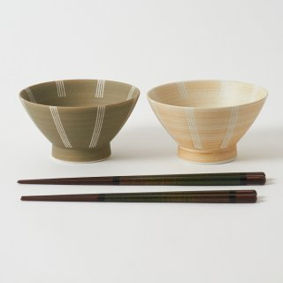 箸・飯碗ペアセット 薄月 / 天丸