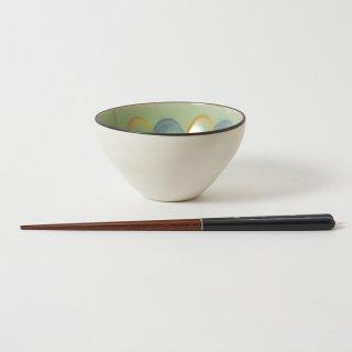箸・飯碗セット 深海 濃藍 / 先細角らでん