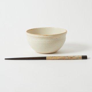 箸・飯碗セット 栞 亜麻色 / 削り 和紙巻き