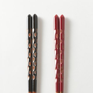 箸ペアセット  木葉 / 重ね塗り削り